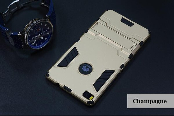OEM mobile phone accessory Iron Man armor case with stand for Huawei P8 P9 cell phone cover case