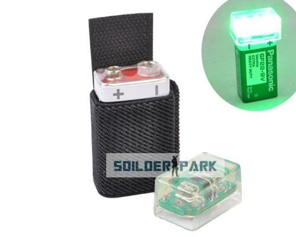 Airsoft Tactical FMA Knvir-14 Signal Light Marker Beacon Green/Red/Blue Light Black Pouch Hunting Combat Paintball Helmet Light order<$18no