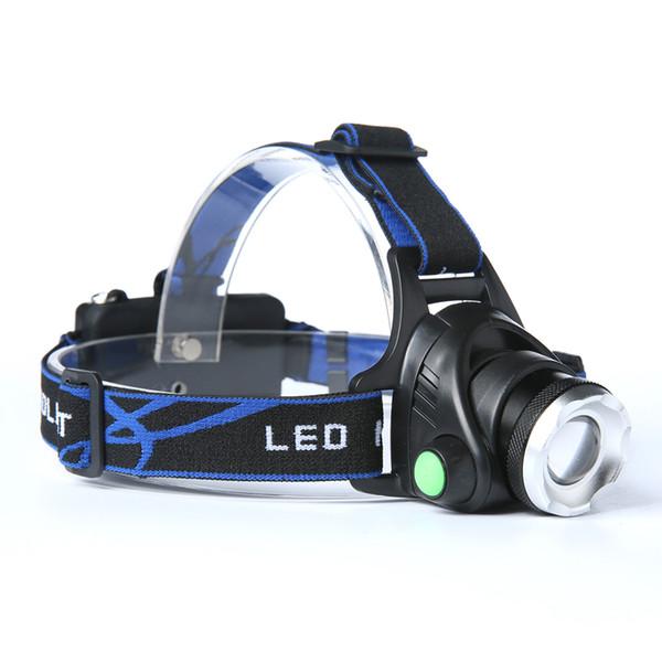 BORUIT 2200LM CREE XM-L T6 LED con zoom de 3 modos 18650 Faros Faros Linterna Luz de cabeza Lámpara de pesca Zoom