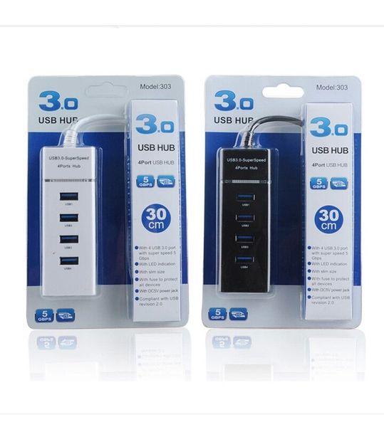 Haute vitesse 5 Gbps 4 Ports Hub USB 4 ports Hub 3.0 USB Adaptateur de diviseur pour ordinateur portable PC / Notebook / Périphériques Accessoires