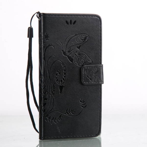 10 pcs/Lot Xperia X Cover Fashion Wallet PU Leather with Embossed Flowers Butterfly Flip Leather Cover for Sony Xperia X with Hand Strap