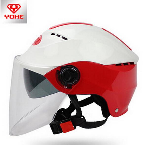 2016 New YOHE Eternal Summer helmet dual lens motorcycle helmet Half face electric bicycle motorbike helmets ABS YH-366 FREE SIZE