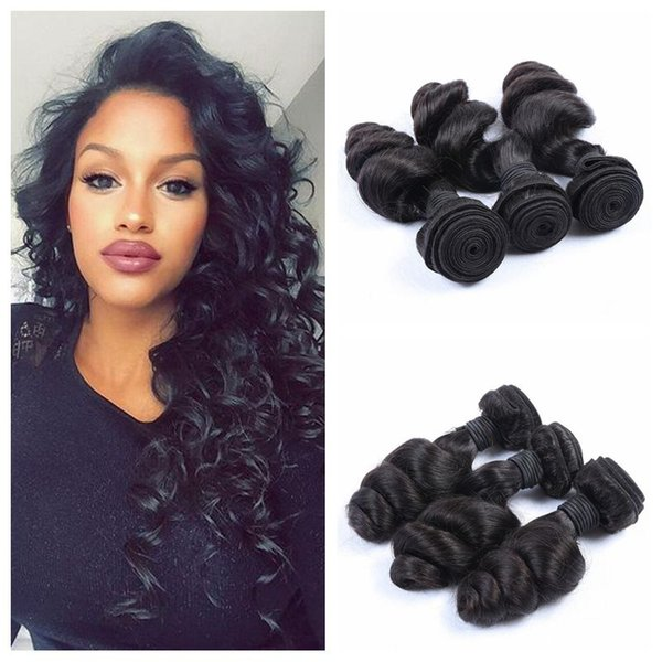 Best Quality Hair Extentions Peruvian Loose Wave Human Hair 3pcs/lot G-EASY Hair Products Loose Wave Weaves dyeable no shedding weaves