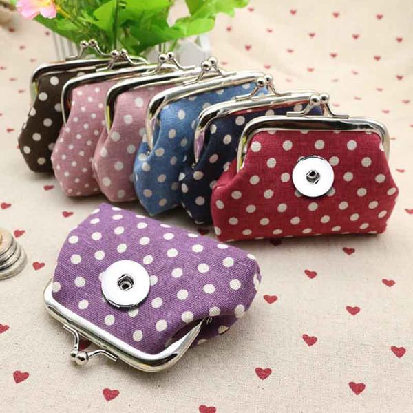Mini 018 Tissu 18mm Snap Button Enfants Femmes Sac Charms Multifonction Porte-clés Anneaux Purse Porte-clés bijoux