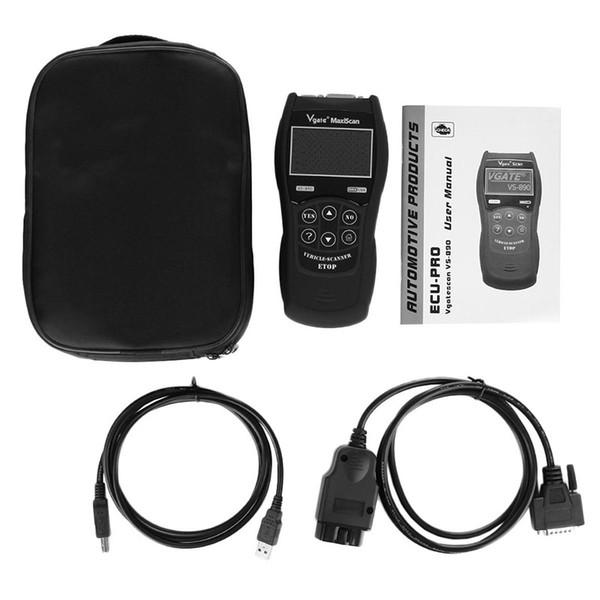 Vgate VS890 OBD2 Multi-language obd2 Scanner Code Reader Car Diagnostic Tool Automotive Diagnostic Tool OBD2 OBDII EOBD Scanner DHL