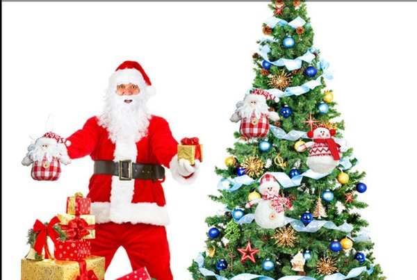cker с Рождеством стенд елки висит 3.1x5.5 дюймов(14x8cm) белый/красный Санта-Клаус подарок декор партии (пакет из 3)