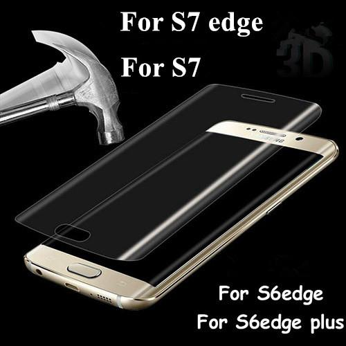 Screen Protector Tempered Glass Film 3D Color Full Cover Curved For samsung Galaxy s7 edge S6 EDGEPLUS Glass membrane Anti-Scratch