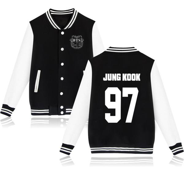 BTS Bangtan Meninos uniforme de beisebol Jungkook jhope jin jimin suga jaqueta de manga comprida de alta qualidade moletom com capuz