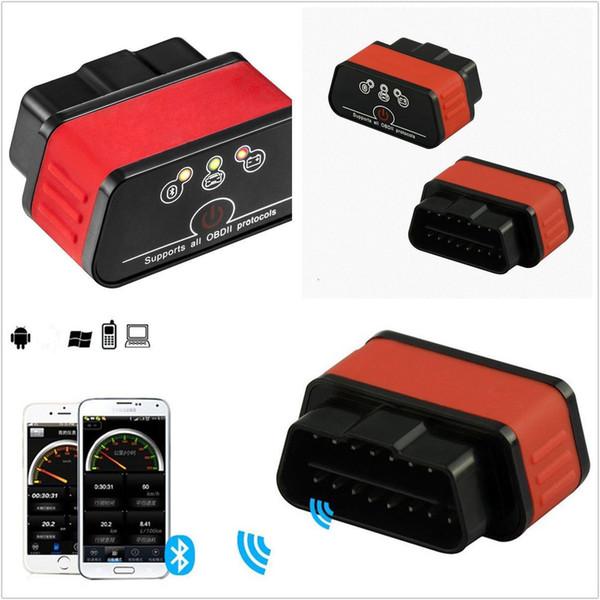 top popular Portable Mini OBDII OBD2 ELM327 12V Car Automobile Bluetooth Diagnostic Scanner 2019