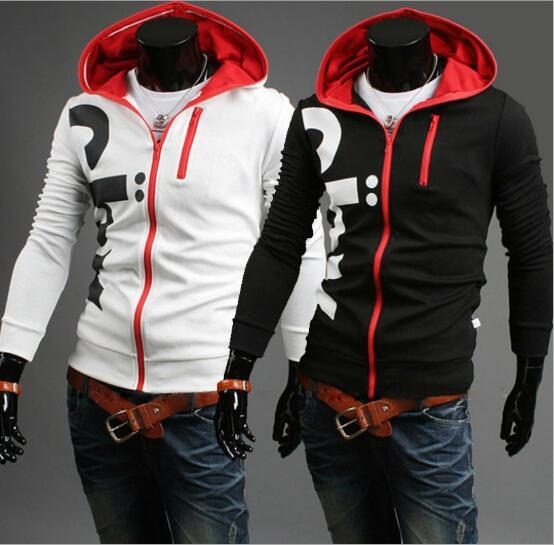 2017 South Korean style fashion personalized hooded letter printing hoody coat oversize men clothing wholesale free shipping