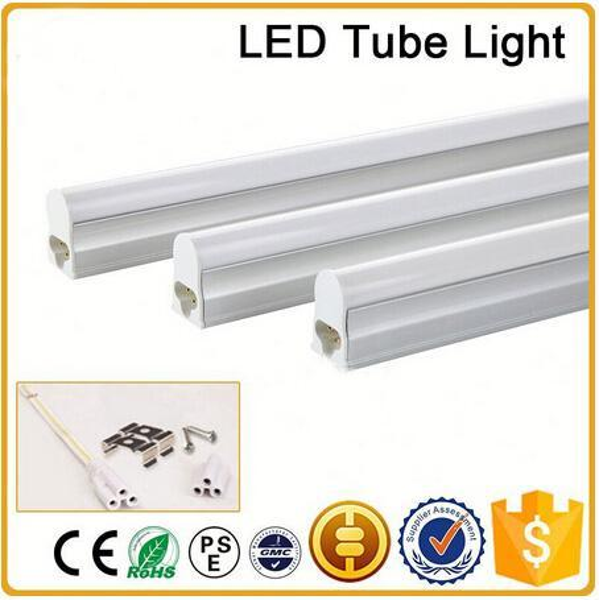 CE RoHS FCC+ 4ft 1200mm T5 LED tube light high super bright 18W Warm/nature/cold white LED Fluorescent Bulbs AC85-265V integration tube