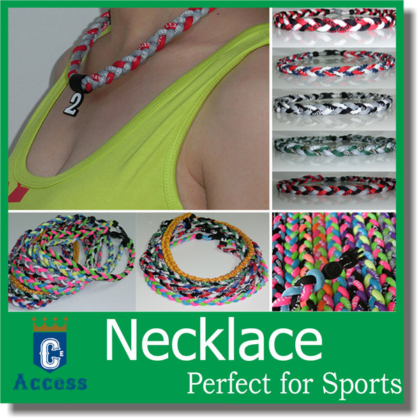 best selling 3 Rope 18'',20'',22'' Titanium Ionic Necklaces Baseball Soccer Sports