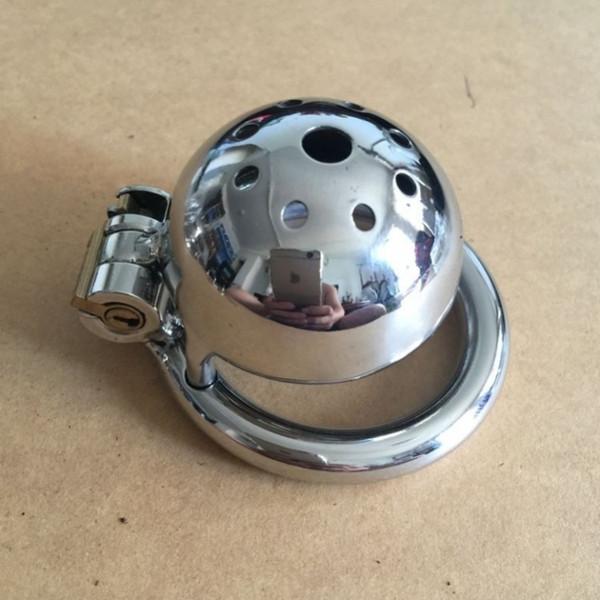 dispositivo di castità castità maschile piccolo CB dispositivo di castità CB cintura in acciaio inox metallo pene di blocco uretrale uomini anello pene