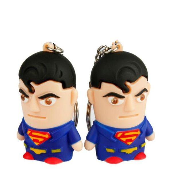 Wholesale Sound avengers alliance superman returns keychain Led key chains creative gift Car keychain free shipping