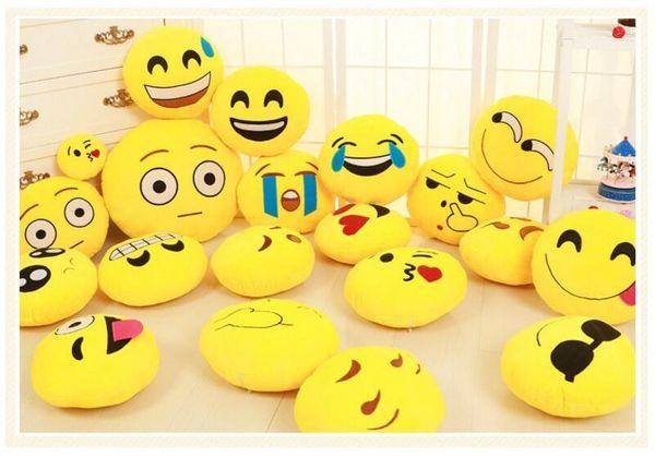 Komik Sevimli emoji yastık Peluş Oyuncak coussin cojines emoji gato Emotion Yastık emoticonos gülümseme Yastıklar Dolması Peluş almofada