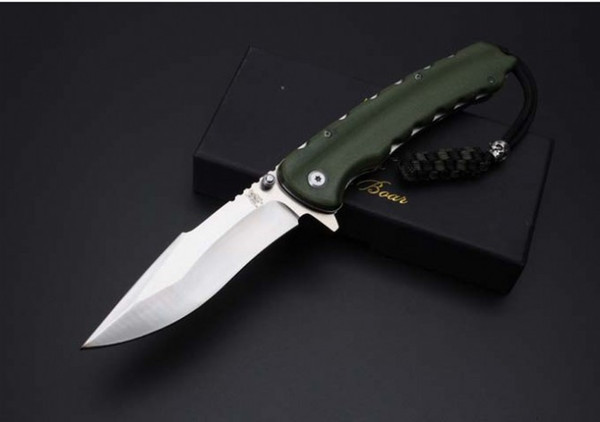 High quality WILD BOAR SZ001A folding knife D2 blade G10 handle Outdoor Camping Survival knives EDC tool Xmas gifts