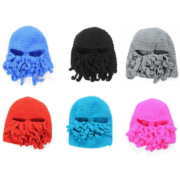 Adult Costume Unisex Octopus Pattern Winter Warm Knitting Wool Ski ...