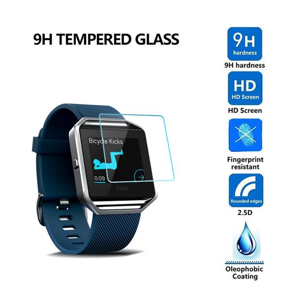 2.5D 9H Tempered Glass Flim Protector de pantalla para Fitbit Blaze Surge Versa para Samsung Gear s2 s3 S4 Gear 2 R380 300 unids / lote