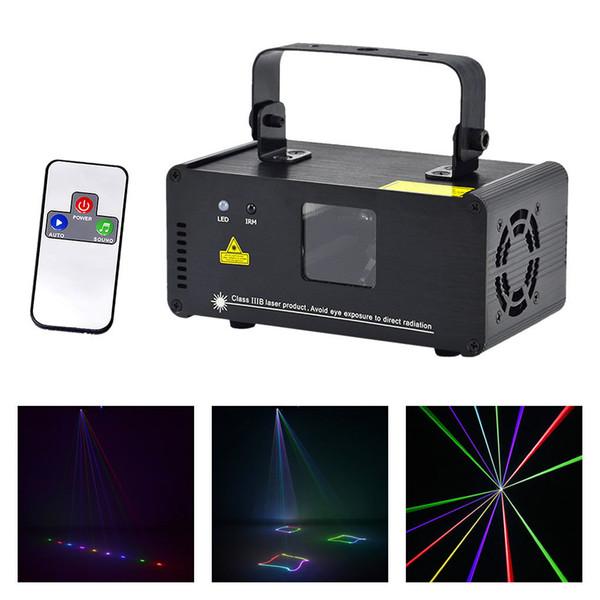 AUCD IR Remote DMX 512 Mini 400mW RGB Full Color Laser Stage Lighting Scanner DJ Dance Party Show Proiettore Luci DM-RGB400