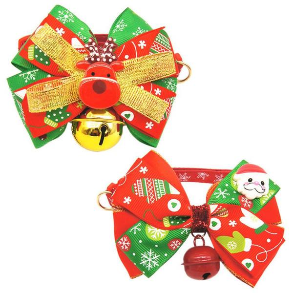 Weihnachten Kleine Große Große Hund Katze Haustier Fliege Kragen Pitbull Golden Retriever Hund Glocke Kragen Hund Halskette Anhänger