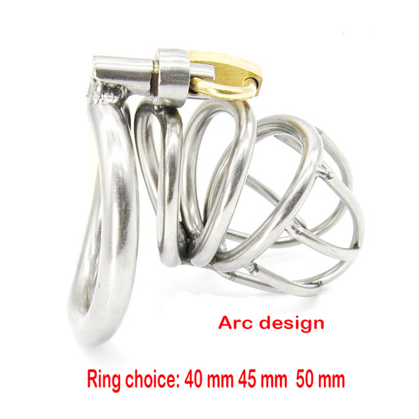 Sex Toys Male Chastity Belt Arc-shaped Cock Ring Stainless Steel Chastity Device Penis Restraint Cage Sex Products