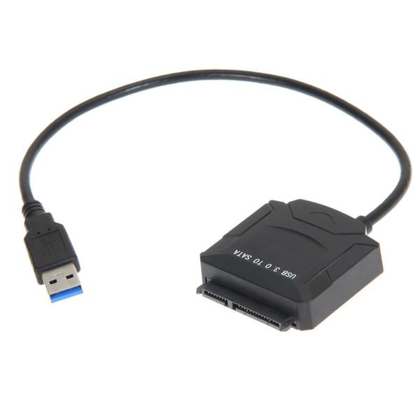 10PCS USB 3.0 a SATA Adaptador Cable convertidor para 2.5 pulgadas 3.5 pulgadas HDD Unidad de disco duro Disco duro portátil SSD BLU-RAY DVD / CD-ROM / DVD-ROM
