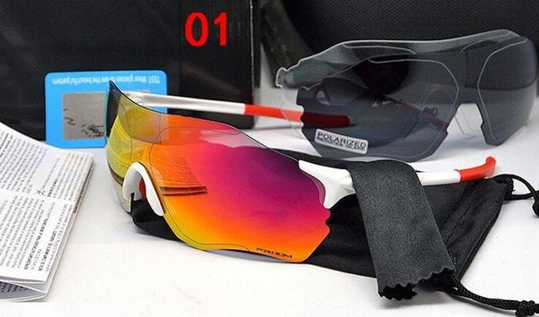top popular EV zero Cycling Eyewear Brand Men Fashion Polarized TR90 Sunglasses Outdoor Sport Running Glasses 9313 Colorful,Polariezed,Transparent lens 2019