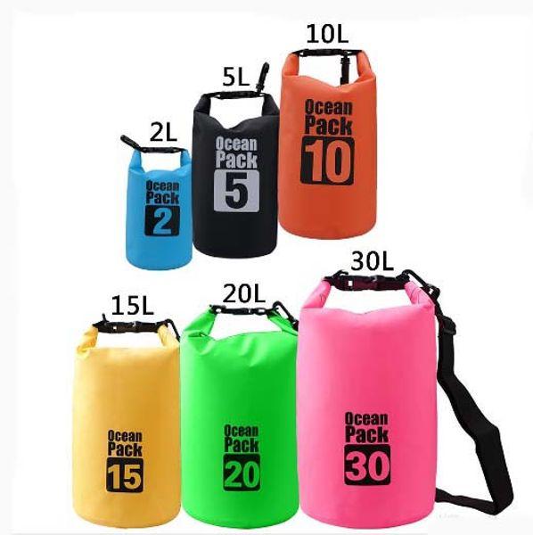 Outdoor PVC Waterproof Bag Swimming Dry Sack Storage Bag Pouch Rafting Sports Kayaking Canoeing Swimming Bag Travel Kits Aicoo