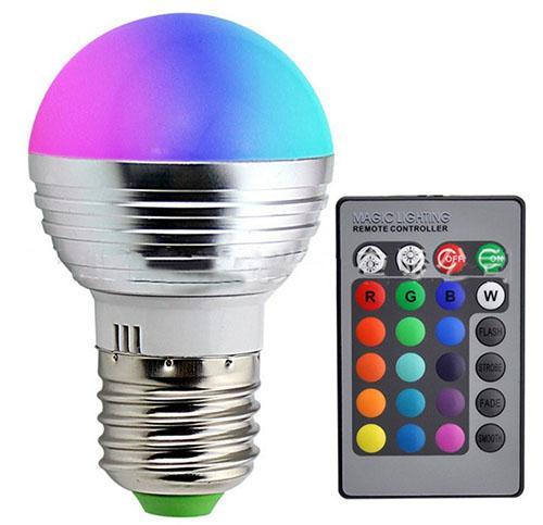 E27 E14 LED 16 Farbwechsel RGB RGB Glühbirne Lampe 85-265V RGB Led Licht Scheinwerfer + IR Fernbedienung LLFA