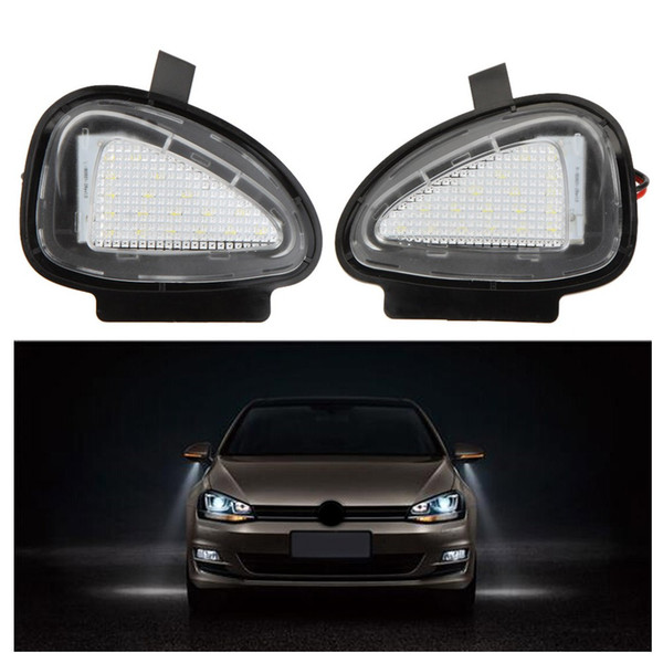 top popular 20Pair LOT LED Under Side Mirror Lamps for VW Golf 6 Cabriolet Passat (B7) Touran Free shipping 2019