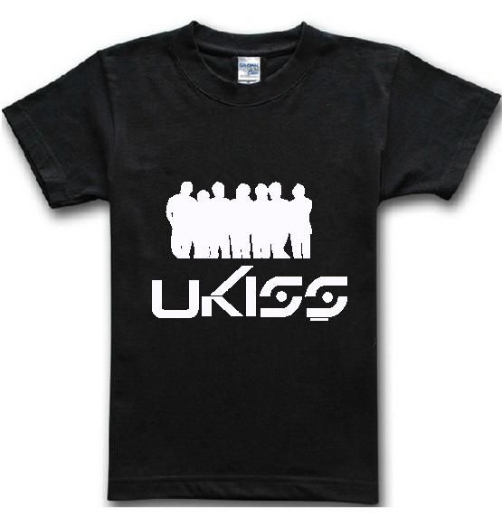 U-KISS Band Men T Shirts Fashion 2016 Summer New Casual Man Shirt Cotton Short Sleeve Sport Brand Clothing Tops Tees AMD048