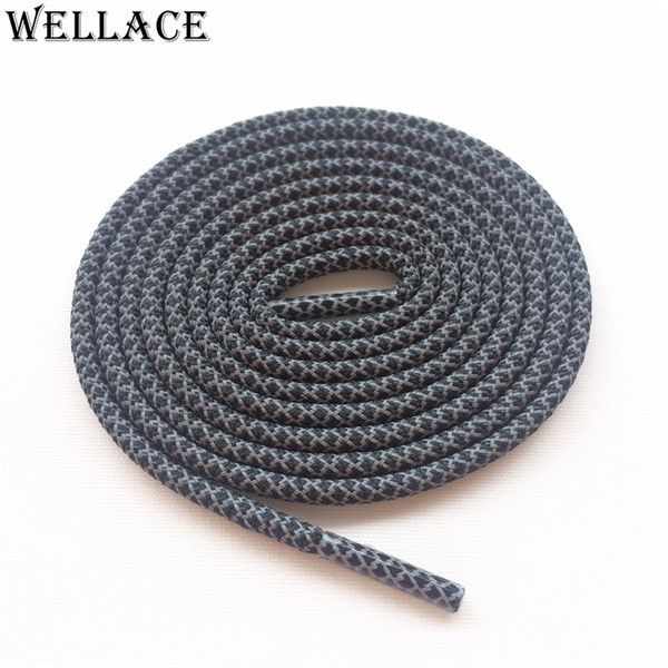 Wellace Round Rope 3M laces Visible Reflective Runner Shoe Laces Safty Shoelaces Shoestrings 120cm for boots 350 750 basketball shoes