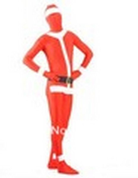 Free P&P Lycra Spandex Santa Claus Zentai Suit Party Cosplay Costume Halloween S-XXL