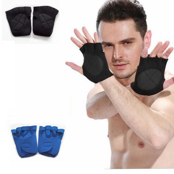 Многофункциональный Спортивные перчатки тренажерный зал тяжелая атлетика фитнес упражнения тренажерный зал перчатки Бодибилдинг оборудование Спорт половина finger перчатки KKA2515