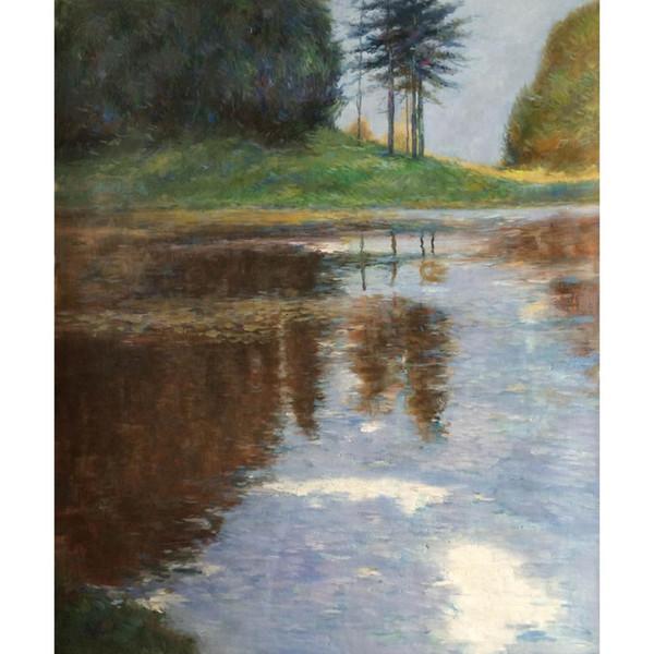 Густав Климт пейзажи картины маслом холст воспроизведение тихий пруд в парке обращение высокое качество ручной работы