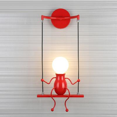 Amerikan Country Demir Sanayi Vintage LED Duvar Işık, Yenilik Basit Yaratıcı Çocuk Duvar Lambası Yatak Odası Oturma Odası Için lambala ...