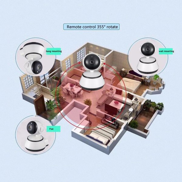 2017 new Home Security IP Camera WiFi Camera Video Surveillance 720P Night Vision Motion Detection P2P Camera Baby Monitor Zoom