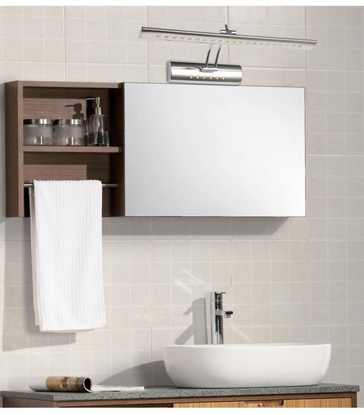 Modern 5W Wall Lamps 400mm / 7W 550mm Wall Mounted Stainless Steel Decoration Lights Cabinet Mirror Light Wall Lamps with Switch 01