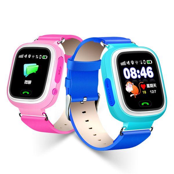 GPS Q90 Relojes inteligentes Relojes táctiles WIFI Ubicación Niños Baby SOS Buscador de llamadas Track gps Kid Safe Anti-Lost Monitor Dispositivo PK Q730