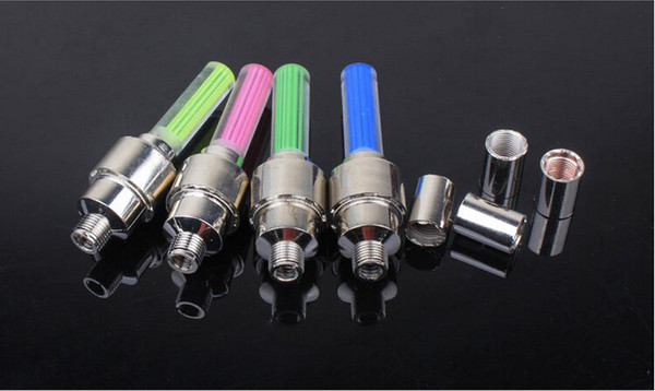 top popular New Led Bicycle Lights 100pcs Wheel Tire Valve's Bike Accessories Cycling Led Bycicle Accessories Light Free DHL Shipping 2019