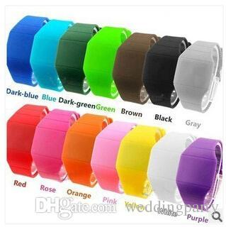 700 pcs LED Touch-screen Watch Jelly Candy Extra-thin Silicone Waist Watches DHL FedEx Free Shipping