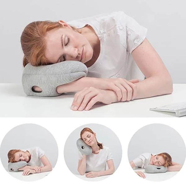 office nap pillow. Office Nap Pillow EDC Flight Travel Desk Arm Head Rest Sleeping Cushion Foam Particles I