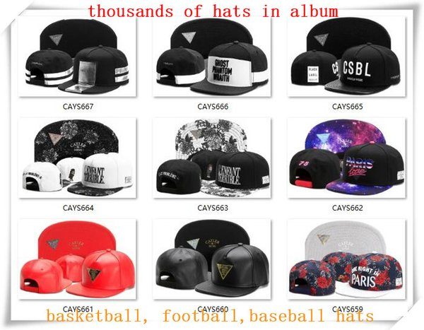 best selling New Snapback Hats Cap Cayler Sons Snap back Baseball football basketball custom Caps adjustable size drop Shipping choose from album CY07