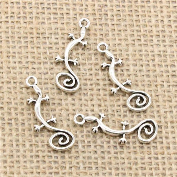 Wholesale 95pcs Charms Tibetan Silver Plated gecko house lizard 29*11mm Pendant for Jewelry DIY Hand Made Fitting