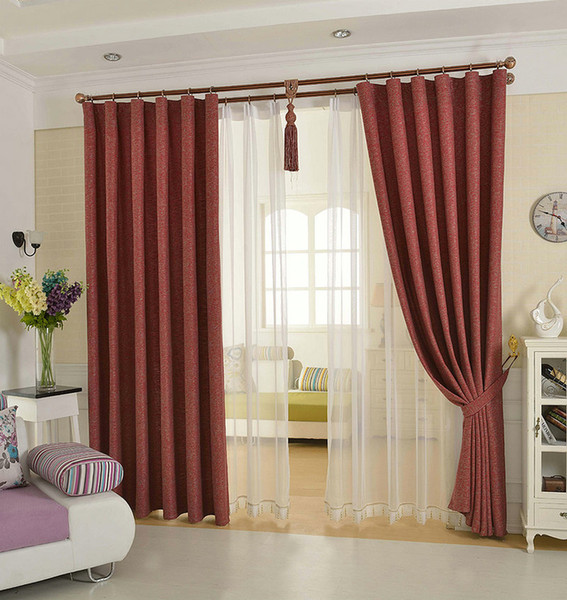 best selling Solid Color Linen Curtain Free Match Breathable Environment Protection for Living Room Bedroom Linen Tulle for window decorate