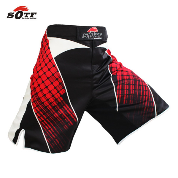 Suotf Mma Boxing Cotton Breathable Sport Training Pants Shorts Boxing Shorts Muay Thai Boxing Cheap Mma Shorts Kickboxing Men Short
