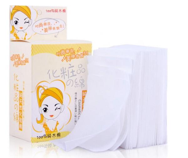 Großhandel-zufällige Farbe 100 teile / schachtel Heißer Verkauf Augen Gesichtsreinigung Baumwolle Kosmetik Bilden Entferner Pads für Frauen Geschenk GYH