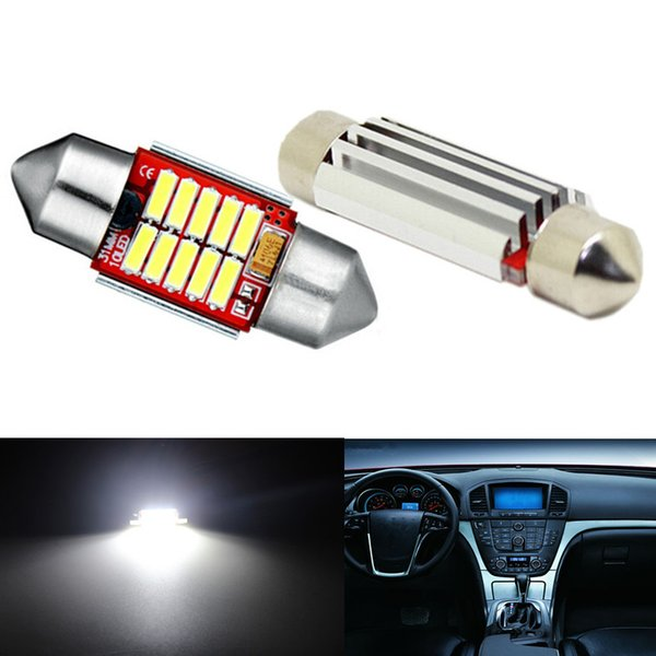 10pcs Bleu-31mm-10SMD BLANC-31mm-10SMD BLEU-36mm-12SMD BLANC-36mm-12SMD Ampoules festonnées LED Dôme de voiture Éclairage intérieur de lampe de route Lampe intérieure LED haute puissance