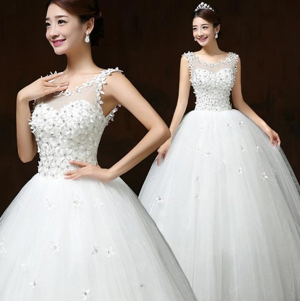 Lace Up Backless Ball Gown Quality Vintage Wedding Dresses 2017 ...