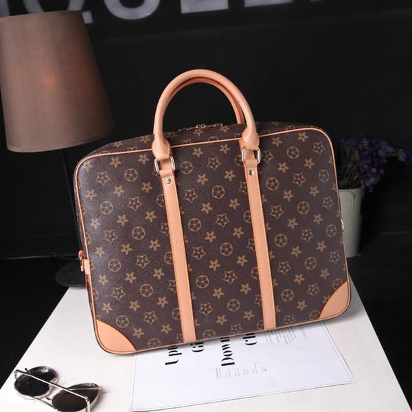 Bagagem Handbag Designer de Bolsa de Mão das Mulheres de Luxo Sacos de Negócios Da Marca de Viagem Ombro Maleta Saco de Grande Capacidade de 14 Polegada Sacos de Computador